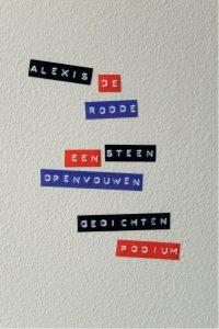 Cover van de dichtbundel 'Een steen openvouwen', Alexis de Roode